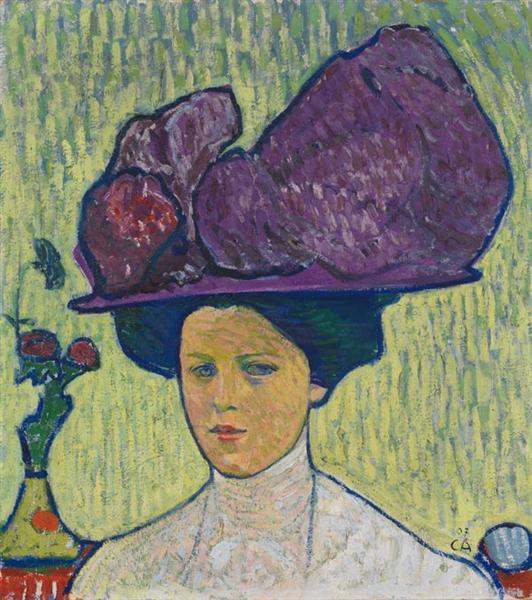The Violet Hat - Amiet Cuno