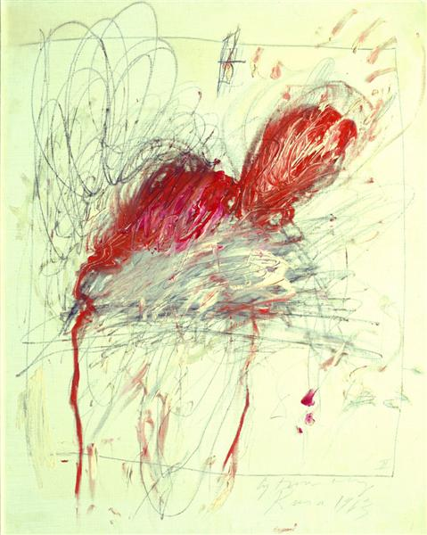 Leda and the Swan, 1963 - Cy Twombly