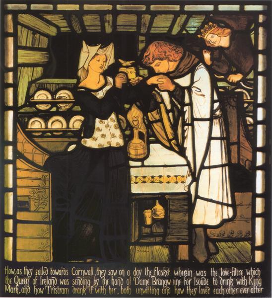 Sir Tristram and la Belle - Dante Gabriel Rossetti