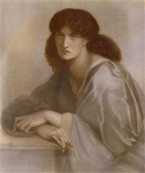 The Women's Window (Jane Morris) - Dante Gabriel Rossetti