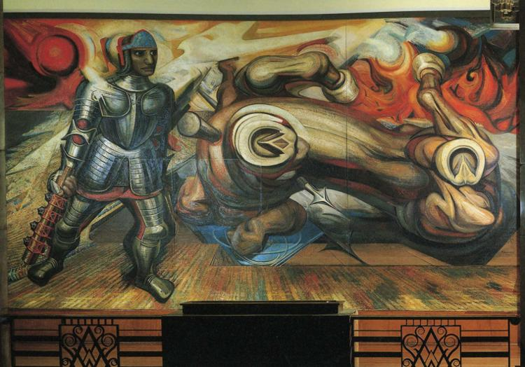 The resurrection of cuauhtemoc david alfaro siqueiros for Mural siqueiros