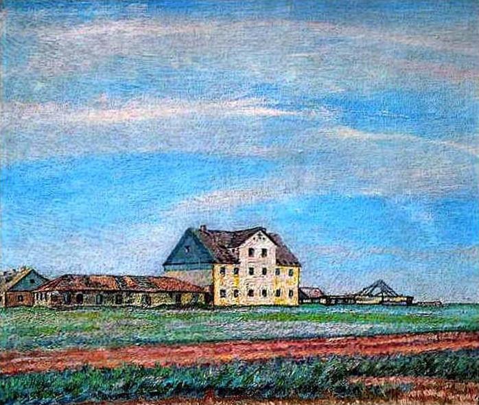 A House in the Steppe, 1908 - David Burliuk