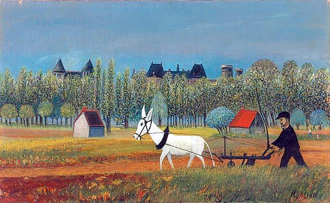 Peasant Working in a Field, c.1940 - David Burliuk ...