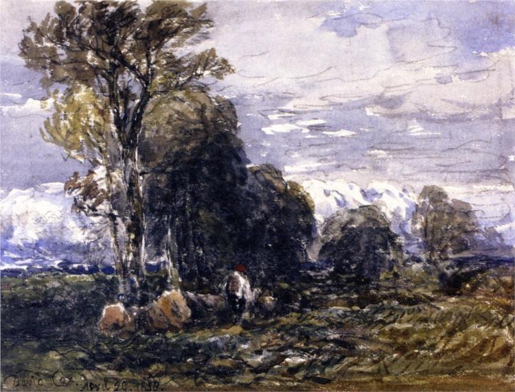 Scene in a Lane, 1858 - David Cox
