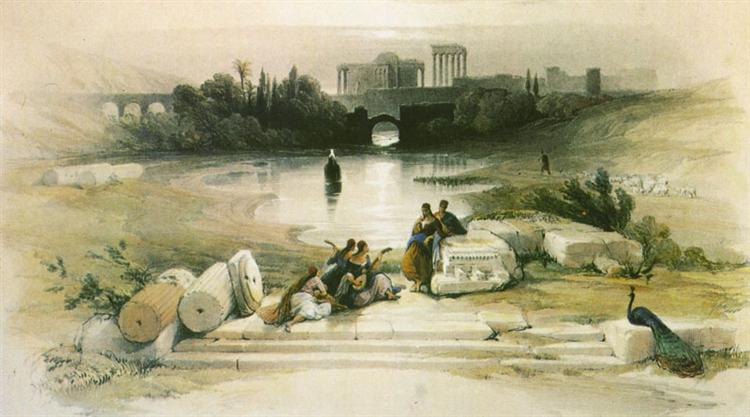 Baalbek. From the Fountain - David Roberts