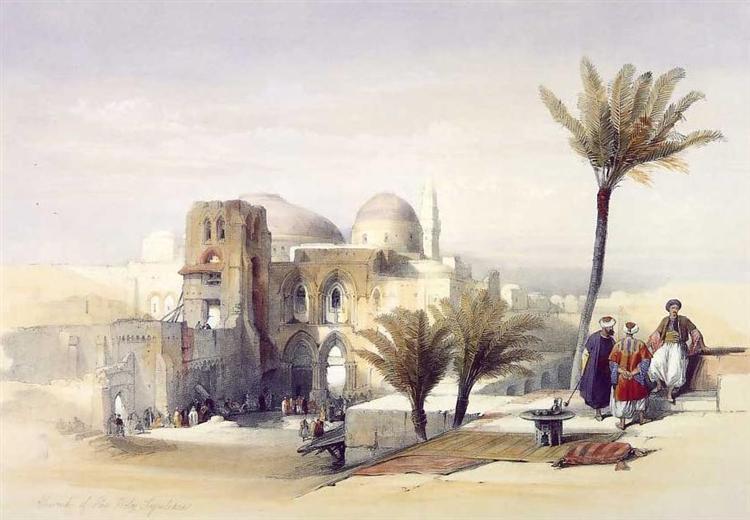 Church of the Holy Sepulchre, Jerusalem, 1849 - David Roberts
