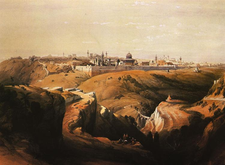 Jerusalem from the Mount of Olives - David Roberts