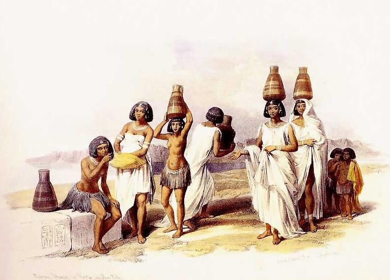 Nubian Women at Korti, 1847