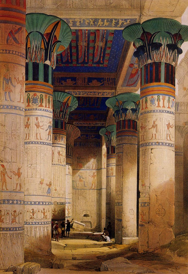 Portico of the Temple of Isis at Philae, 1851