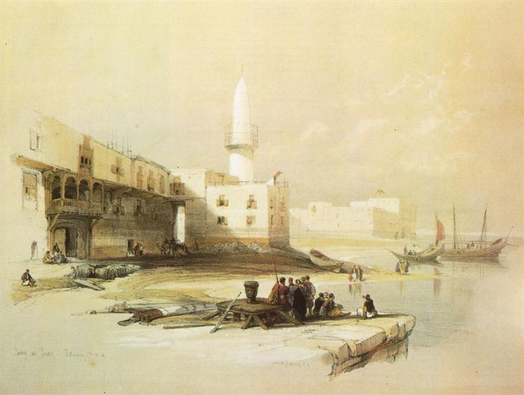 Scene on the Quay of Suez - David Roberts