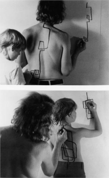 Two Stage Transfer Drawing, 1971 - Dennis Oppenheim