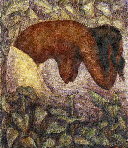 Bather of Tehuantepec - Rivera Diego