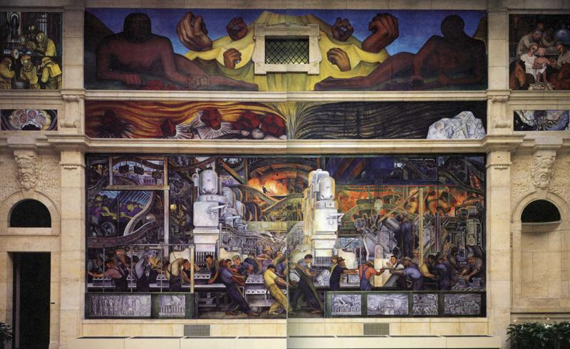Detroit industry north wall diego rivera for Detroit rivera mural