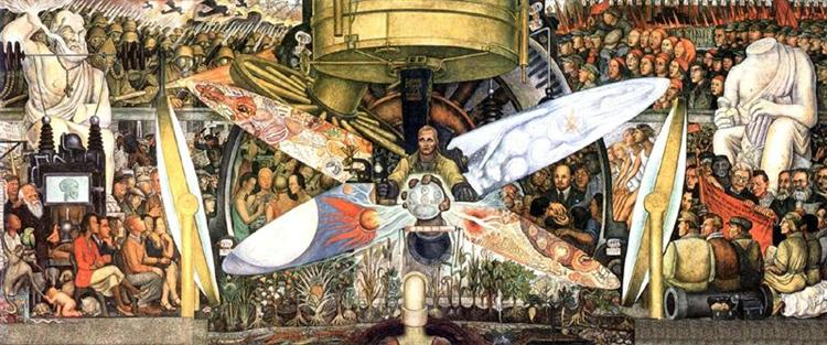 Man at the Crossroads/Man, Controller of the Univers - Diego Rivera