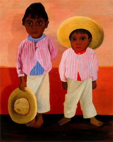 My Godfather's Sons (Portrait of Modesto and Jesus Sanchez), 1930 - Diego Rivera