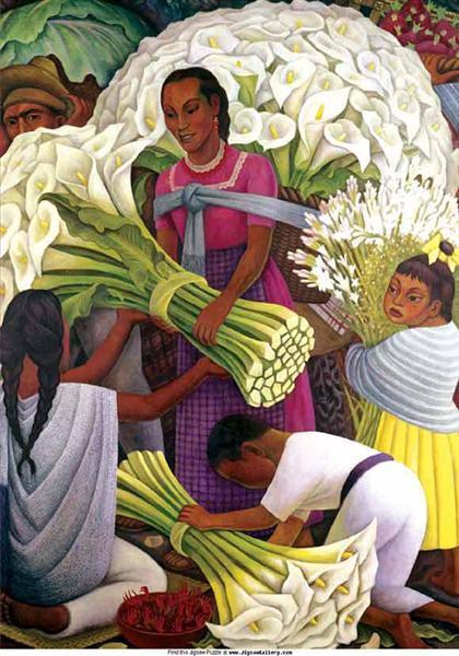 The Flower Seller - Диего Ривера