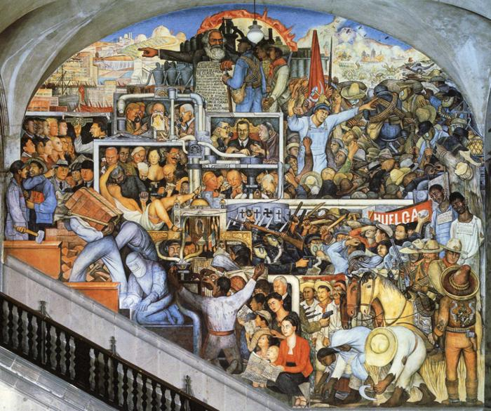 The world of today and tomorrow 1929 1935 diego for Diego rivera mural 1929