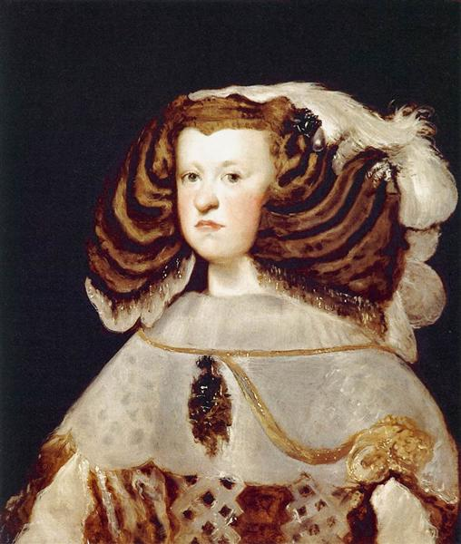 Portrait of Mariana of Austria, Queen of Spain, 1655 - 1657 - Diego Velazquez
