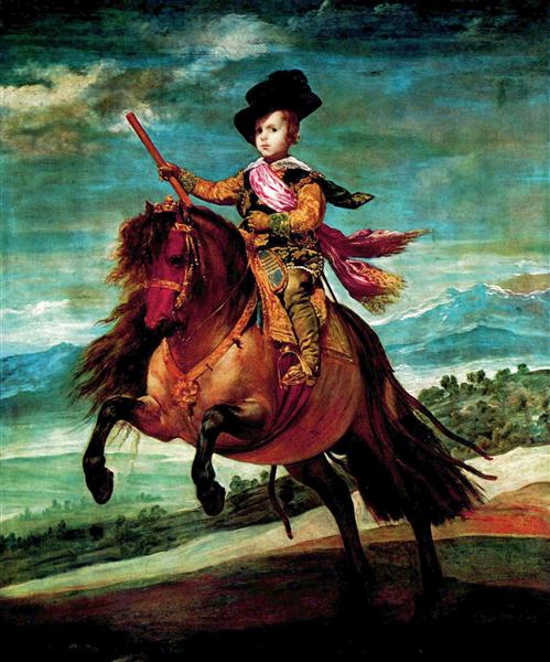 Prince Balthasar Carlos on horseback, 1634 - 1635 - Diego Velazquez