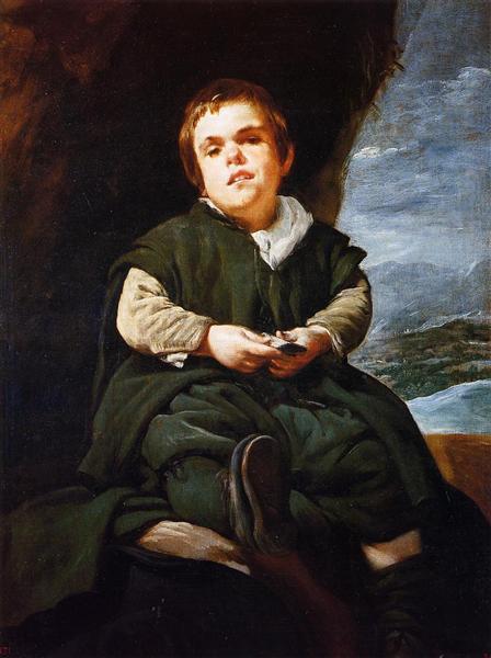 The Court Dwarf, Don Franciso Lezcano called 'El Nino de Vallecas', 1637 - Diego Velazquez