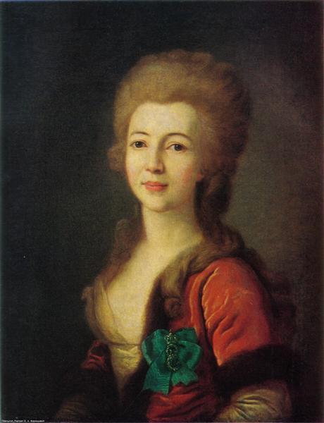 Portrait of Catherine Vorontsova, c.1785 - Dmitri Grigorjewitsch Lewizki