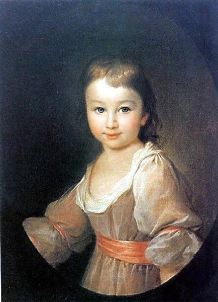 Portrait of Praskovia Vorontsova - Dmitry Levitzky