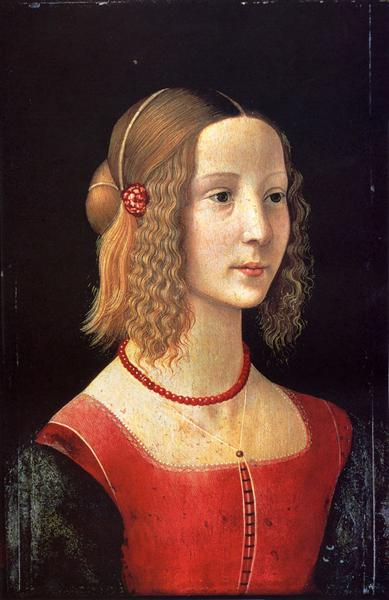 Portrait of a Girl, c.1490 - Domenico Ghirlandaio