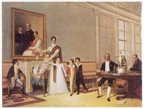 Retrato da Família do 1º Visconde de Santarém - Domingos de Sequeira