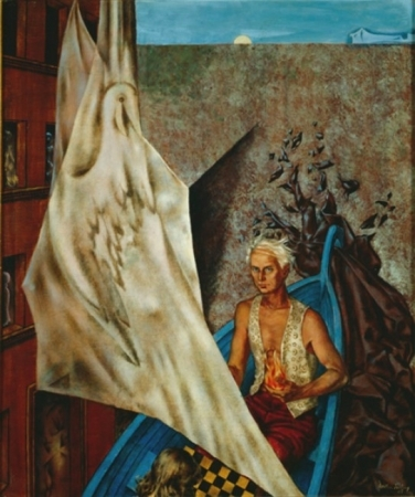 Max in a Blue Boat, 1947 - Dorothea Tanning