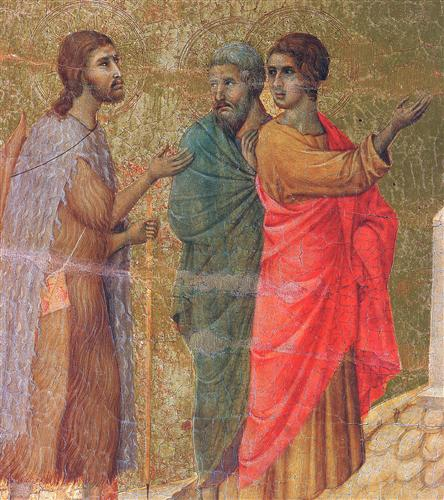 Christ on the road to Emmaus (Fragment)  - Duccio