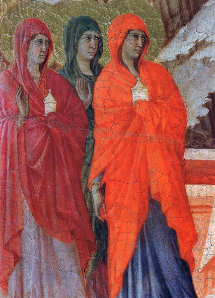 The Three Marys at the Tomb (Fragment), 1308 - 1311 - Duccio