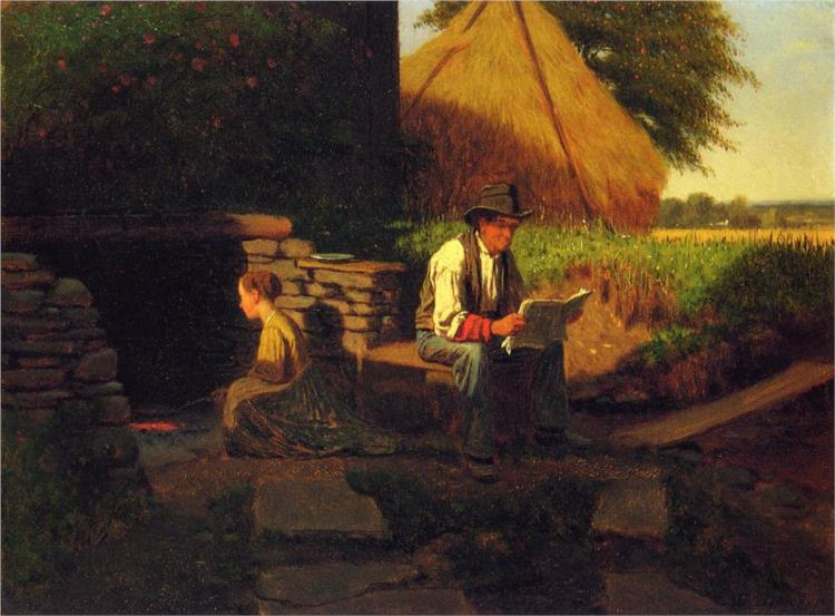 Catching Up on the News - Eastman Johnson