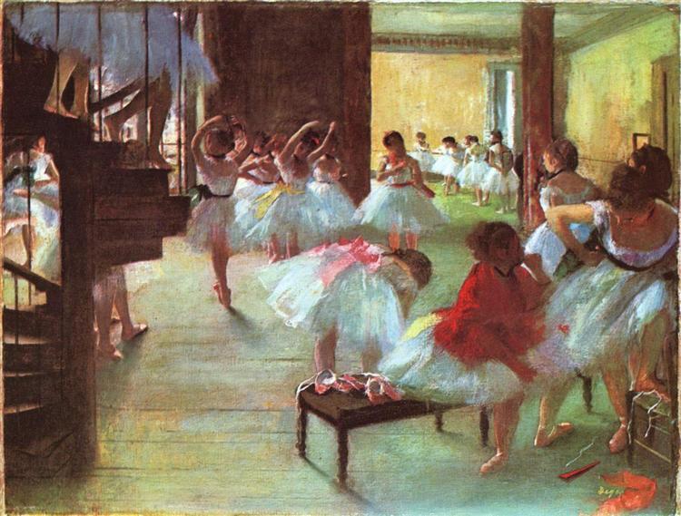 Ballet School, 1873 - Edgar Degas