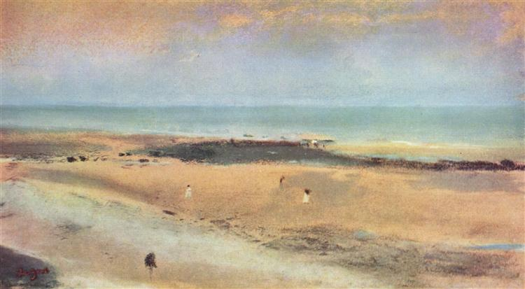Beach at Ebbe, 1869 - 1870 - Edgar Degas