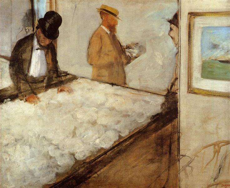 Cotton Merchants in New Orleans, 1873 - Edgar Degas