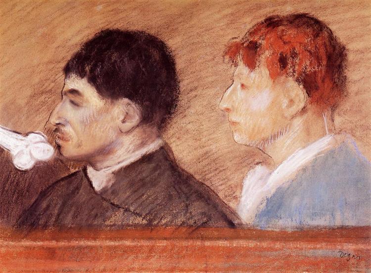 Criminal Physiognomies, 1881 - Edgar Degas
