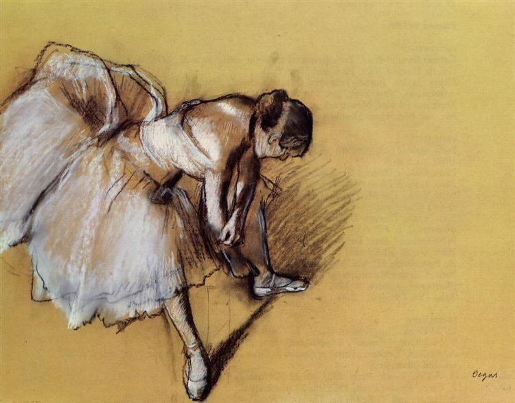Dancer Adjusting Her Sandel, c.1890 - Edgar Degas