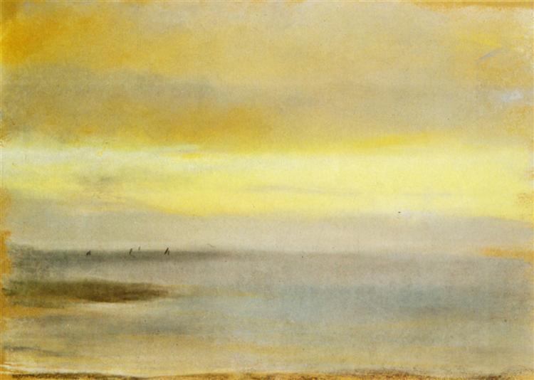 Marina, Sunset - Edgar Degas
