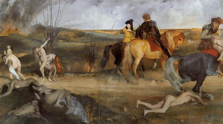 Scene of War in the Middle Ages, 1865 - Edgar Degas