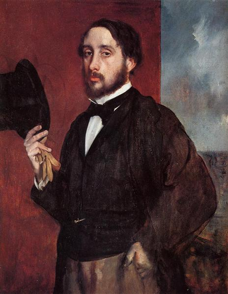 Self Portrait Saluting, 1865 - 1866 - Edgar Degas