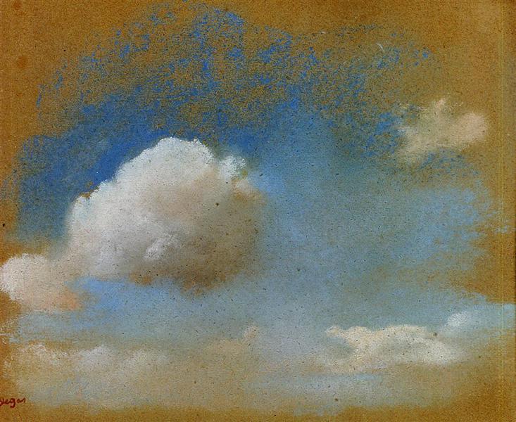 Sky Study, c.1869 - Edgar Degas