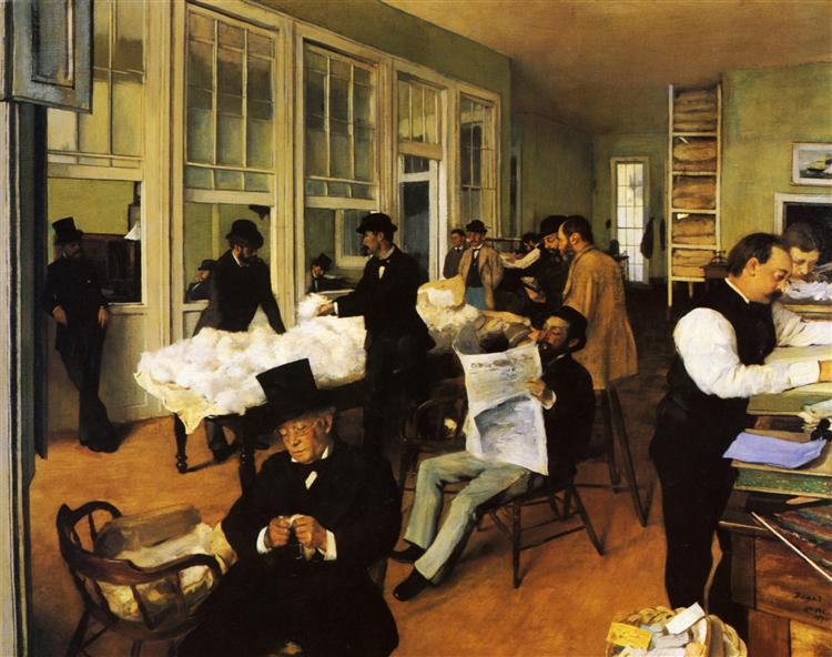 A Cotton Office in New Orleans, 1873 - Едґар Деґа