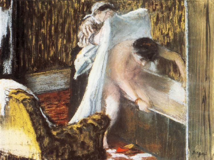 Woman Leaving Her Bath, 1877 - Edgar Degas
