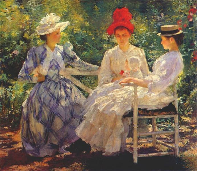 In a Garden, 1890 - Edmund Charles Tarbell