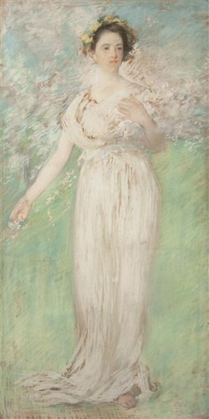 The Symbol of Spring, 1900 - Edmund Charles Tarbell