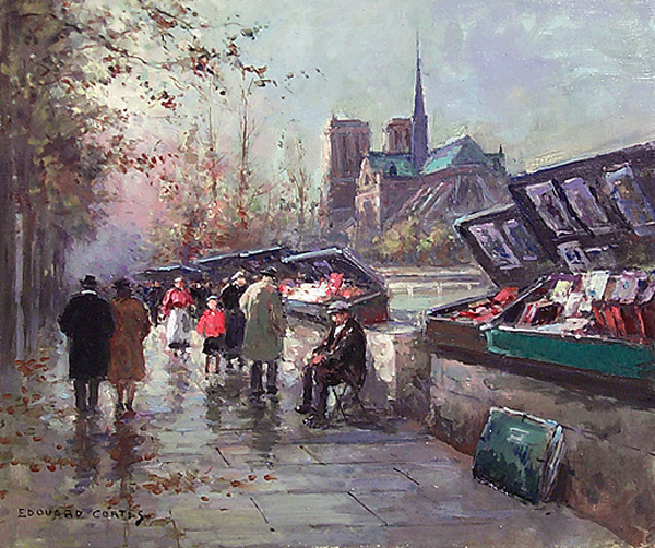 Booksellers of Notre-Dame - Edouard Cortes
