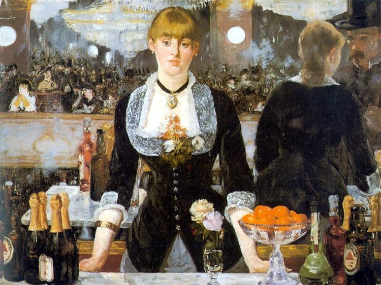 A Bar at the Folies-Bergere - Manet Edouard
