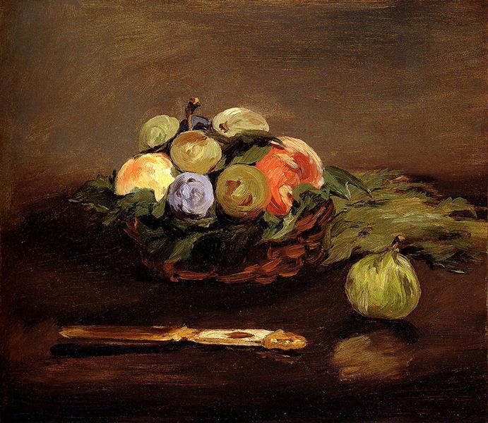 Basket of Fruits, c.1864 - Edouard Manet