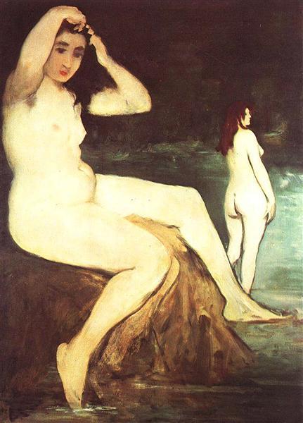 Bathers on Seine, c.1875 - Edouard Manet