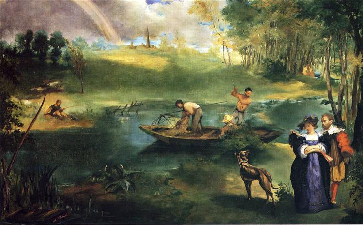 Fishing, c.1863 - Edouard Manet